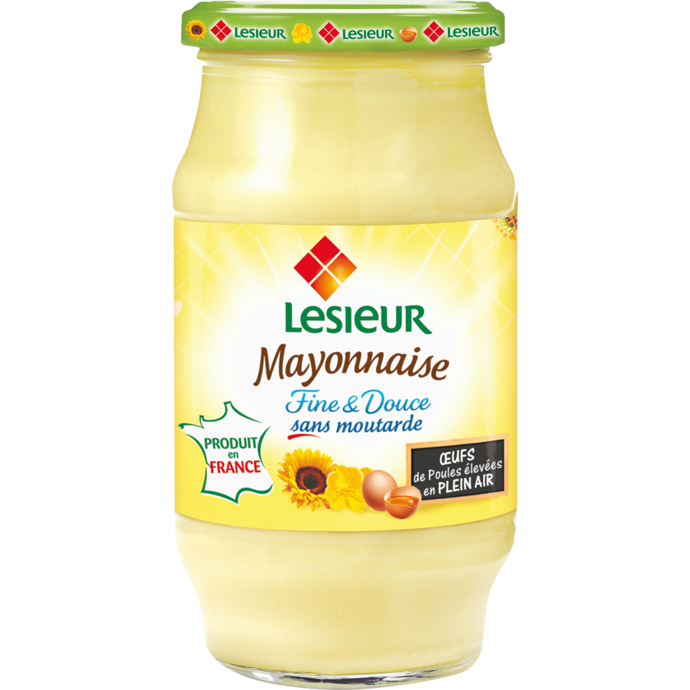 Mayonnaise fine & douce, Lesieur (475 g)