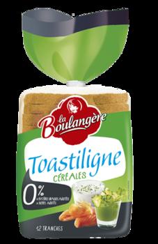 Pain de mie aux céréales Toastiligne, La Boulangère (500 g)