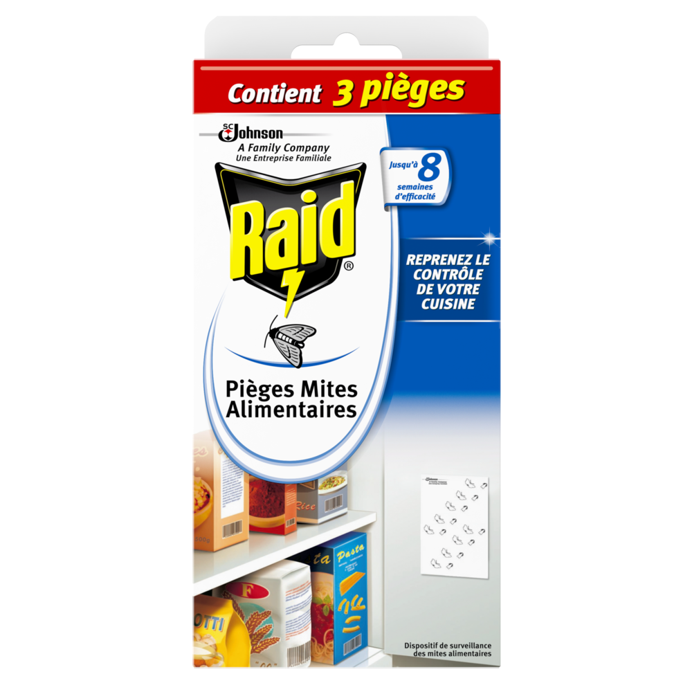 Pièges anti-mites Alimentaires, Raid (x 2)