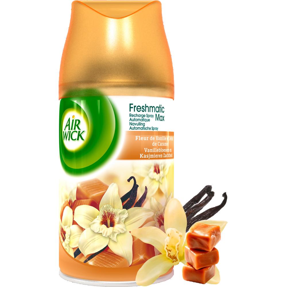 Recharge pour diffuseur Fresh Matic Vanille et Délice de caramel, Air Wick (250 ml)