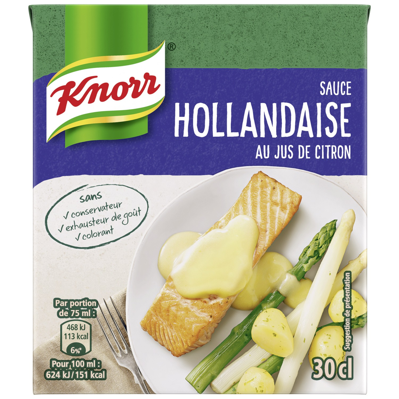 Sauce Hollandaise au jus de citron, Knorr (30 cl)