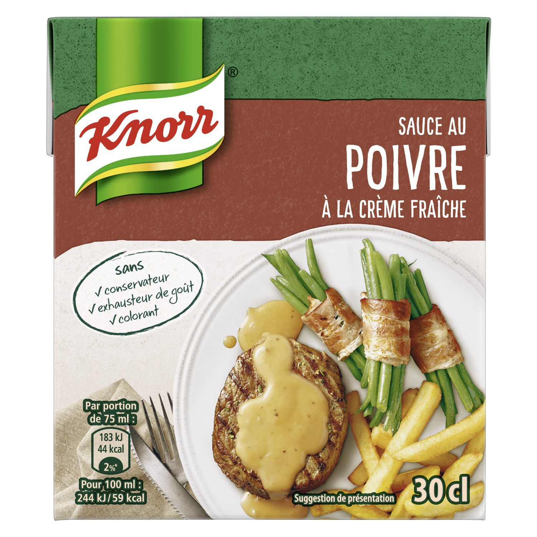 Sauce au poivre à la crème fraiche, Knorr (30 cl)