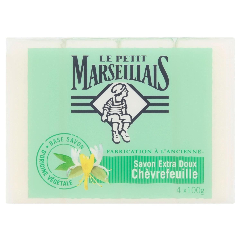 Savon extra doux chèvrefeuille, Le Petit Marseillais (4 x 100 g)