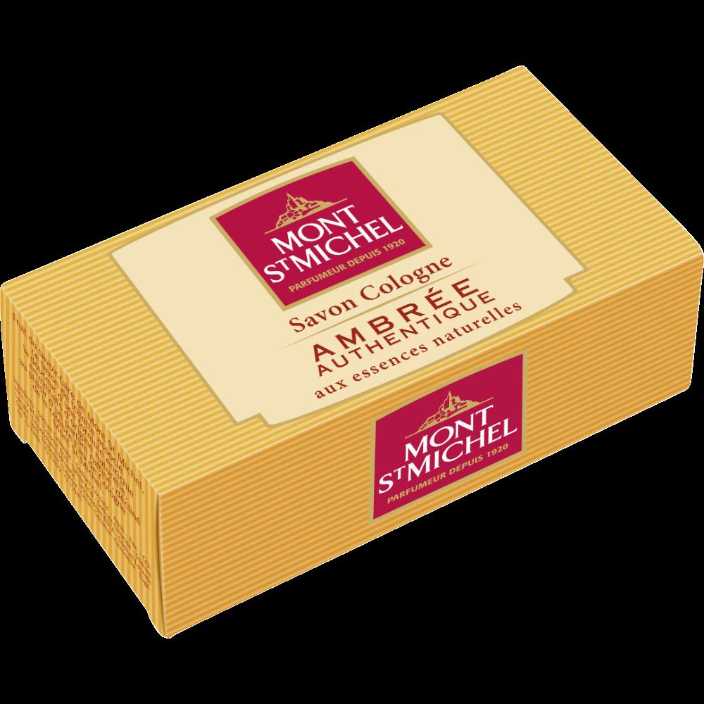 Savon parfumé à l'eau de cologne ambrée authentique, Mont Saint Michel (125 g)