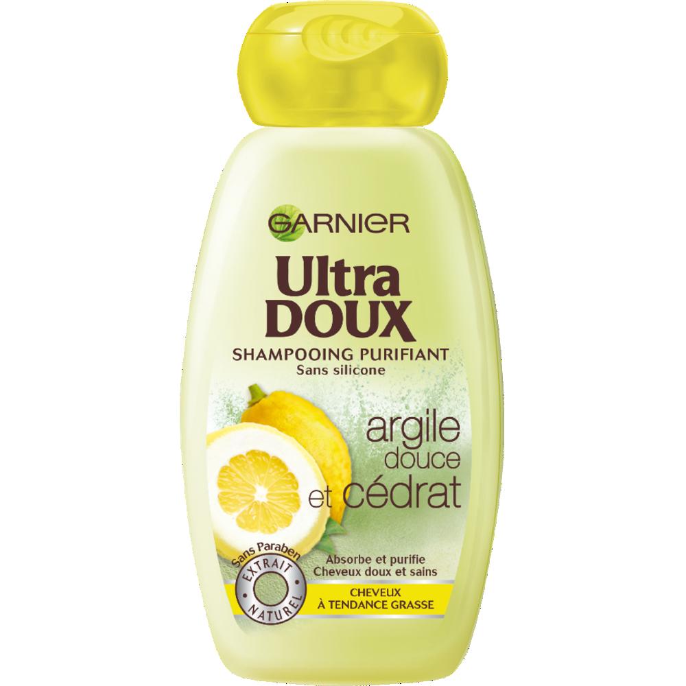 Shampoing purifiant à l'argile douce et au cédrat, Ultra Doux (250 ml)