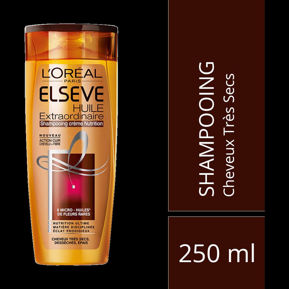 Shampooing démêlant nutrition huile extraordinaire, Elsève (250 ml)