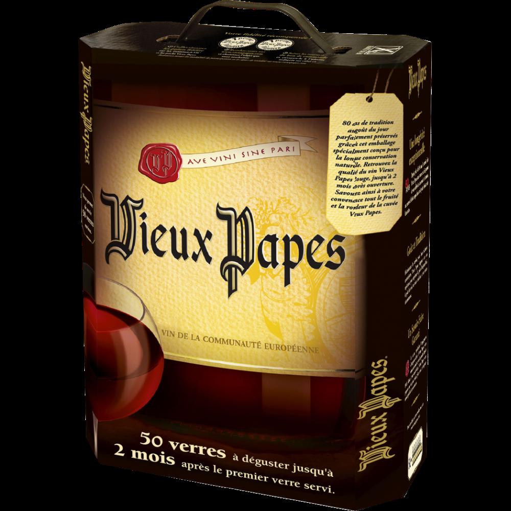 Vin rouge communauté Européennes, Vieux Papes (5 L)