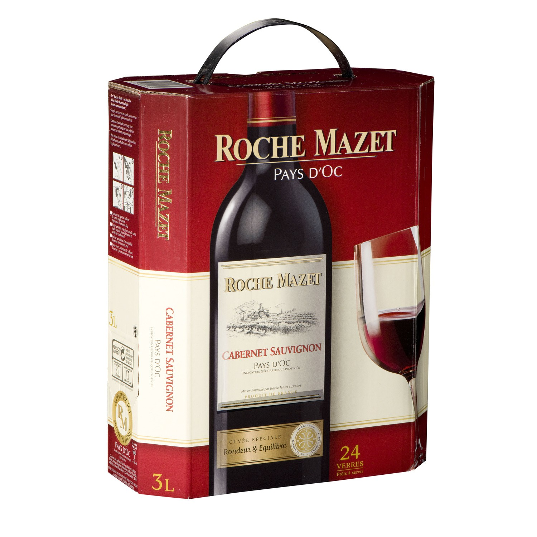 Vin rouge de Pays d'Oc Cabernet Sauvignon, Roche Mazet (3 L)