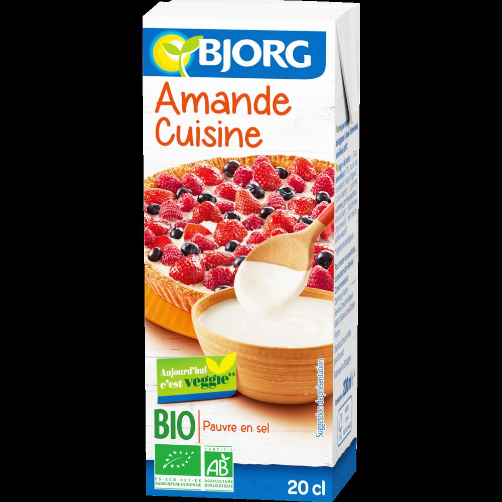 Amande Cuisine Bio Bjorg 200 Ml La Belle Vie Grande