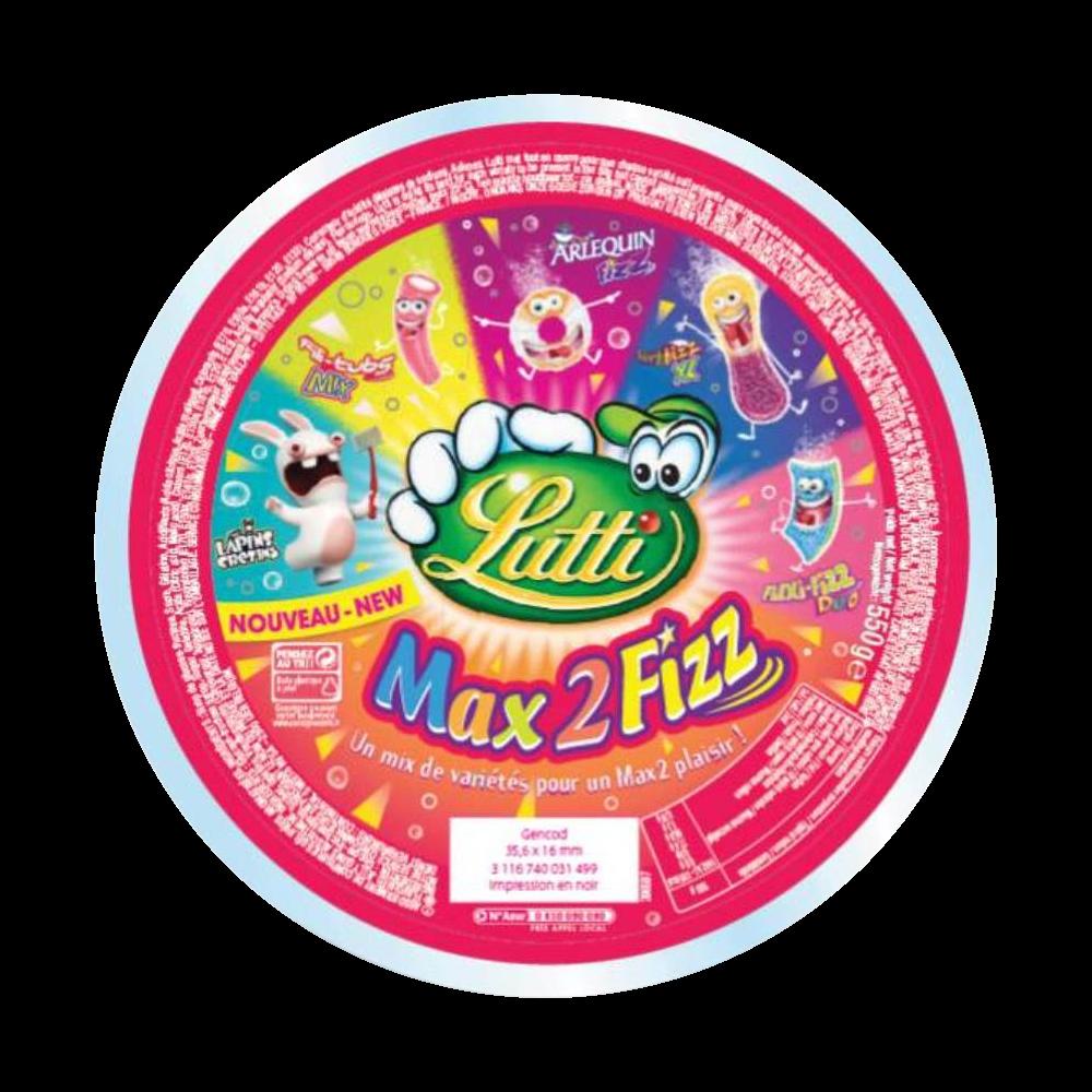 Assortiment bonbons Max 2 Fizz, Lutti (500 g)