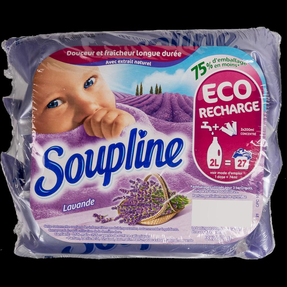 Assouplissant doses lavande, Soupline (3 x 200 ml)