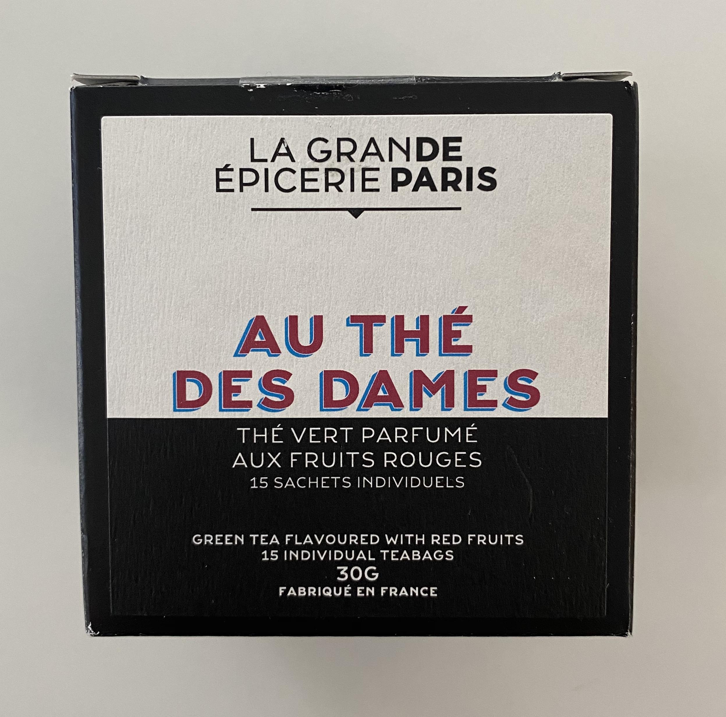 Au thé des dames, thé vert aux fruits rouges, La Grande Epicerie de Paris (x 15)
