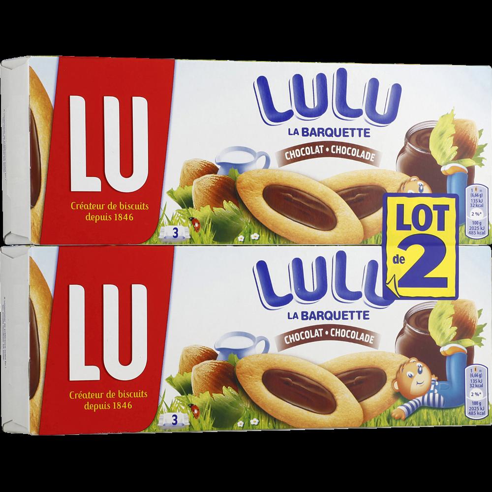 Barquette au chocolat noisette et lait, Lu LOT DE 2 (2 x 120 g)