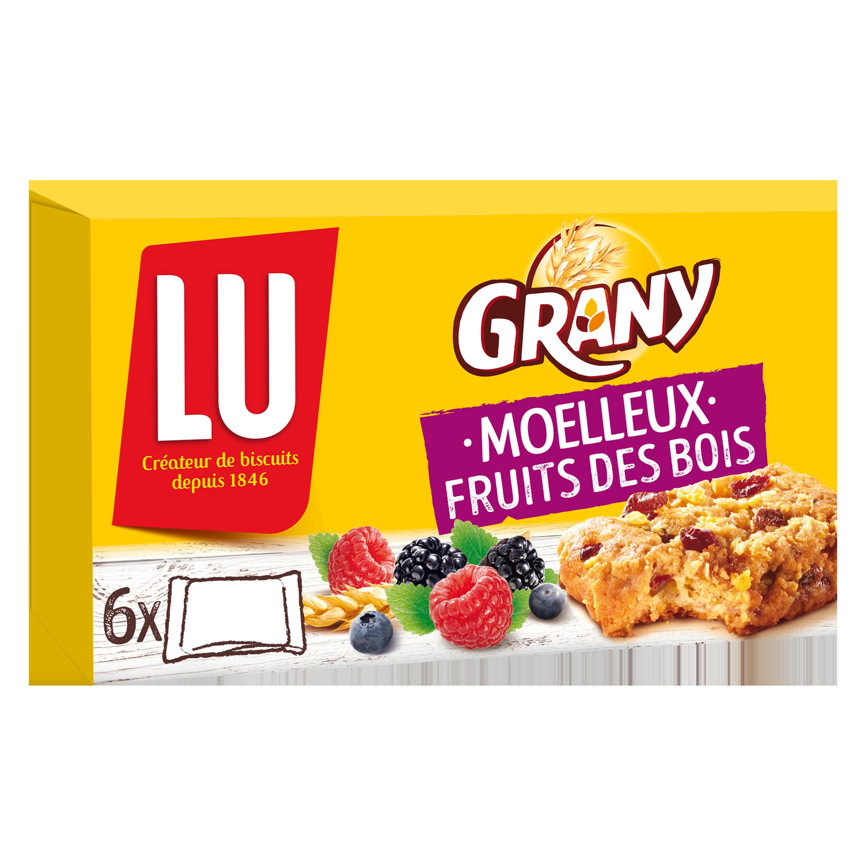 Barre de céréales Grany moelleux fruits des bois, Lu (x 6, 188 g)