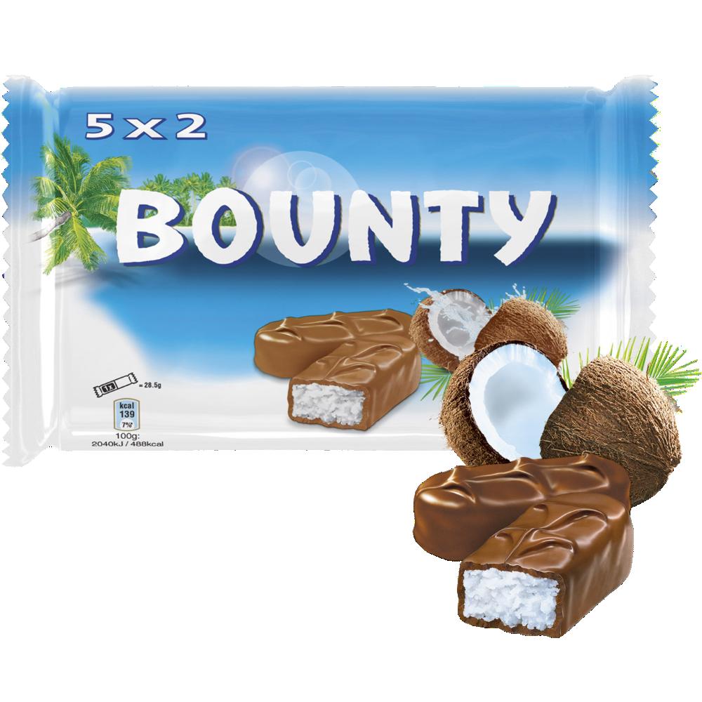 Bounty  (5 x 2 barres, 285 g)