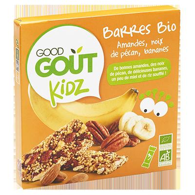 Barres amandes, noix de pécan, bananes BIO - dès 3 ans, Good Goût Kid'z (3 x 20 g)