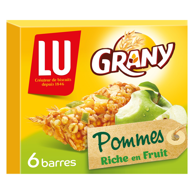 Barres de céréales Grany aux pommes, Lu (x 6, 125 g)
