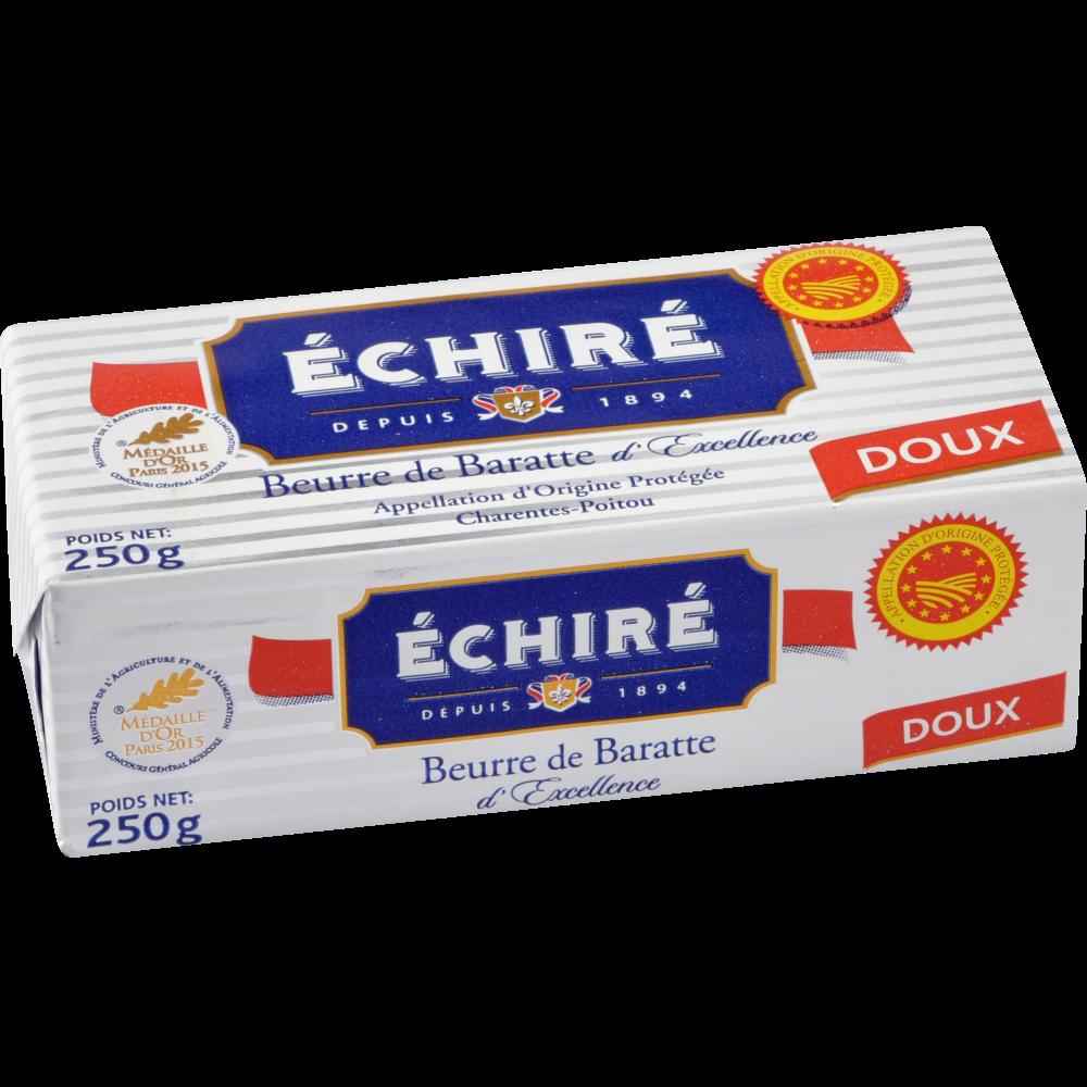 Beurre doux de baratte AOP, Echiré (250 g)
