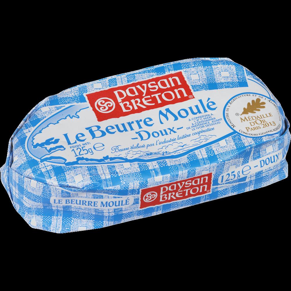 Beurre doux moulé, Paysan Breton (125 g)