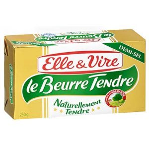 Beurre tendre demi sel,  Elle & Vire (250 g)