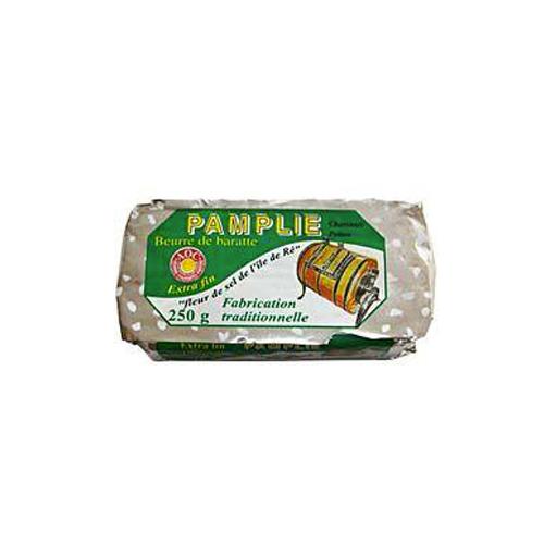Beurre salé Pamplie AOC - à la fleur de sel de l'île de Ré (250 g)