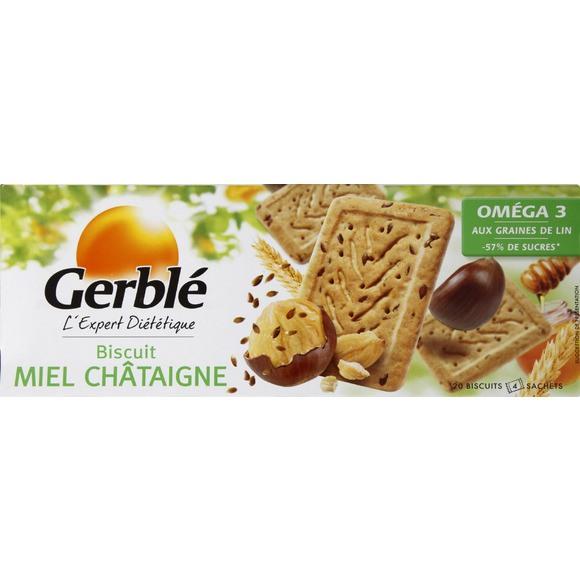 Biscuit miel châtaigne, graine de lin, Gerblé (200 g)