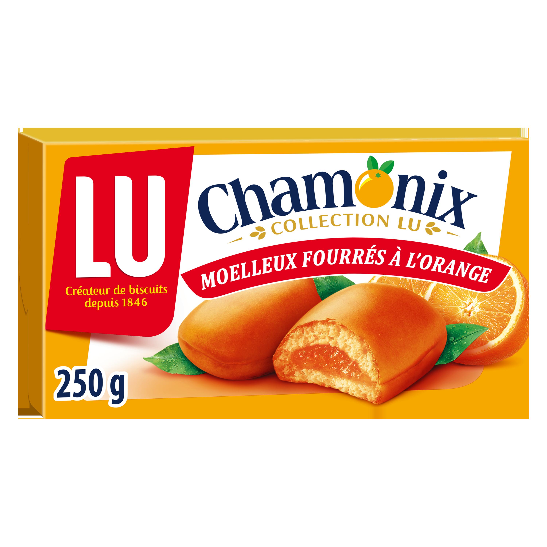 Biscuits fourrés Chamonix à l'orange, Lu (250 g)
