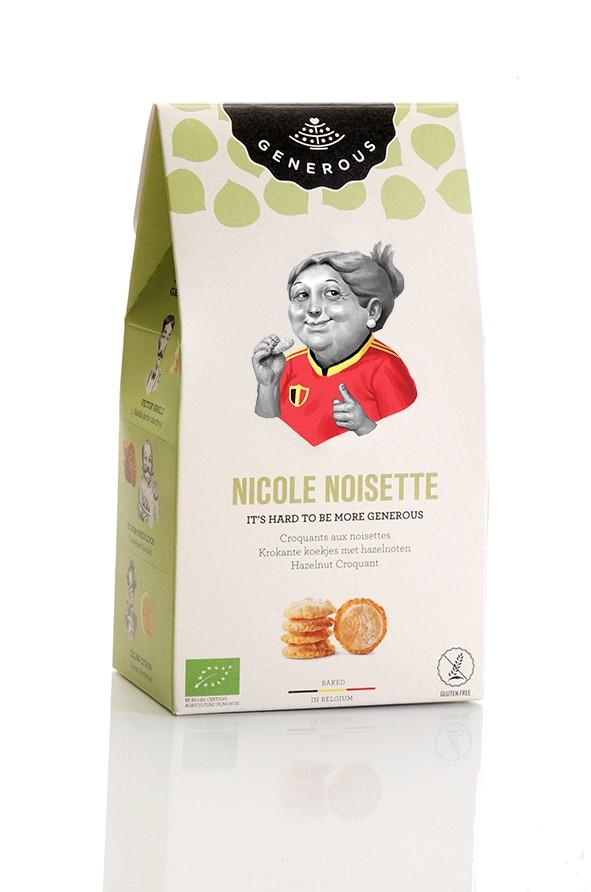 Biscuits Nicole Noisette BIO, Generous (100 g)