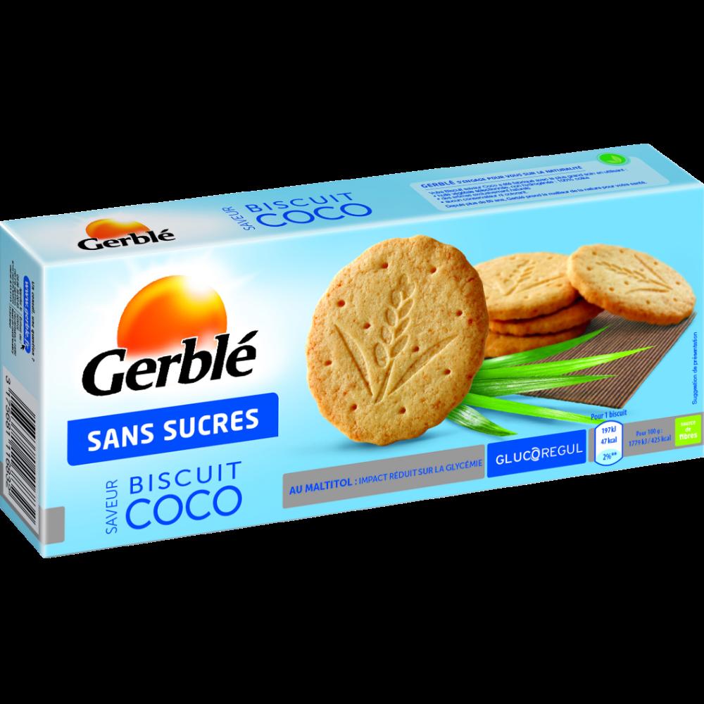 Biscuits saveur coco sans sucre ajouté, Gerblé (132 g)