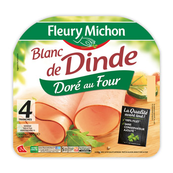 Blanc de dinde fleury michon 4 tranches 120 g la - Cuisiner blanc de dinde ...