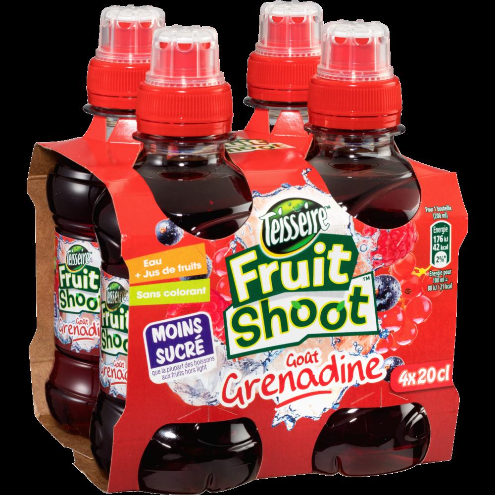 Pack de Fruit Shoot grenadine, Teisseire (4 x 20 cl)