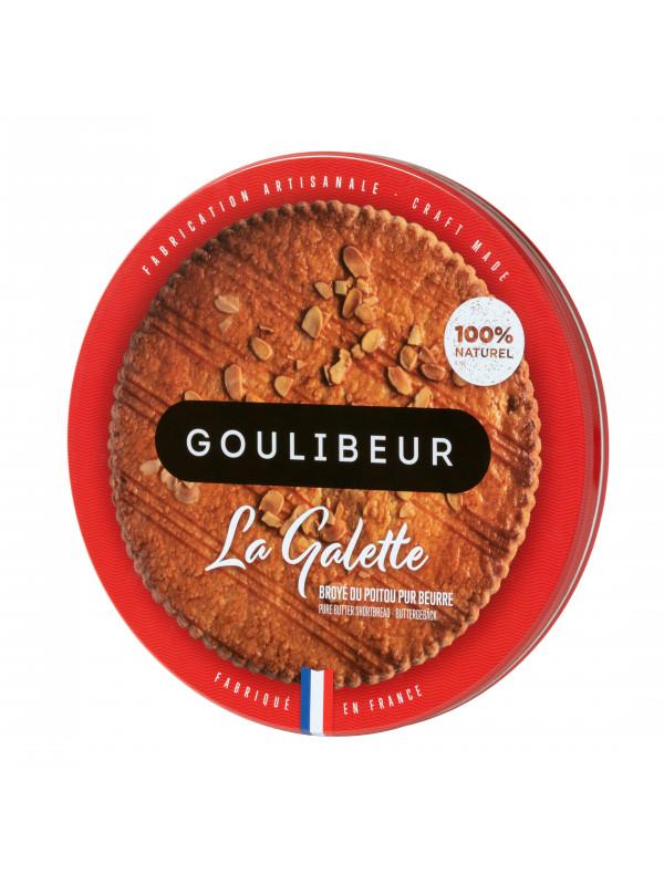 Grande galette Broyé du Poitou pur beurre en boîte en fer, Goulibeur (380 g)