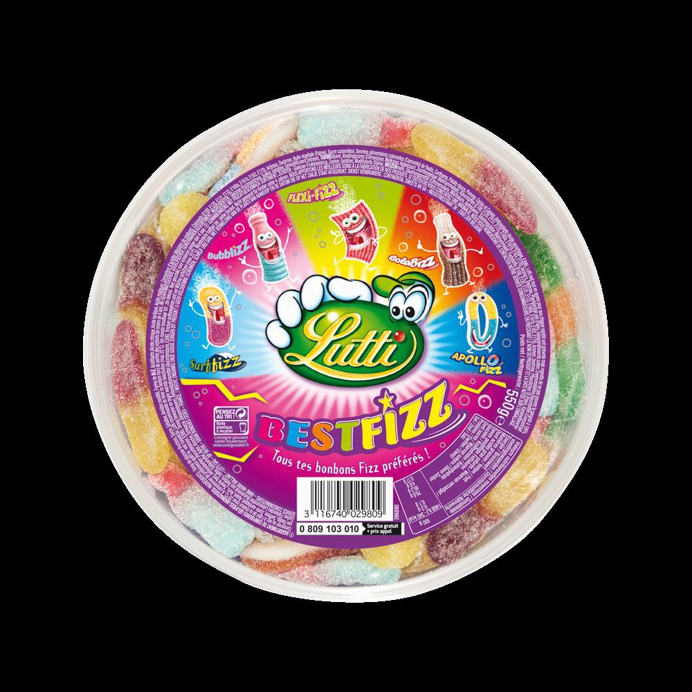 Bonbons Best-Fizz Tubo, Lutti (550 g)