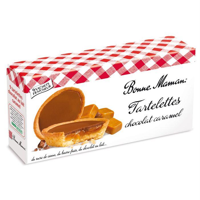 Tartelettes au chocolat au lait & caramel, Bonne Maman (135 g)