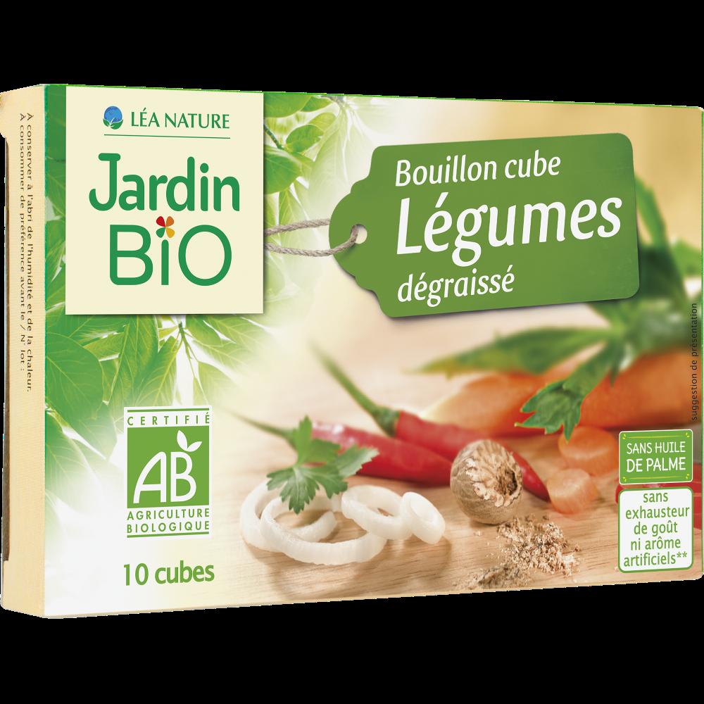 Bouillon cube dégraissé aux légumes BIO, Jardin Bio (x 10, 90 g)