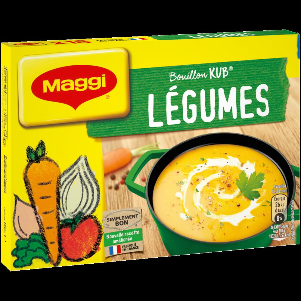 Bouillon de légumes, Maggi (x 18, 180 g)