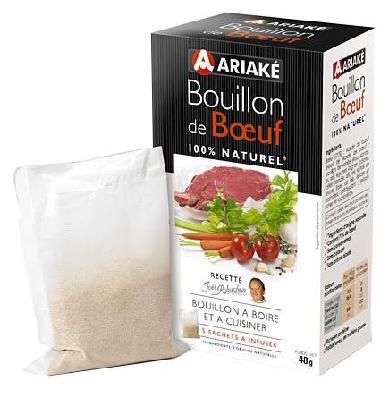 Bouillon de boeuf à infuser, Ariake (5 x 33 cl, 53 g)