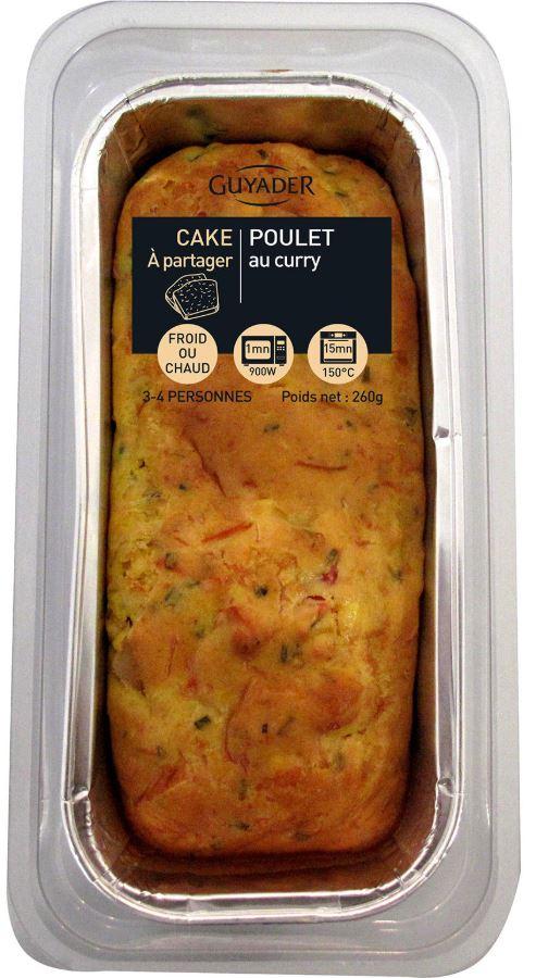 Cake au poulet au curry, Guyader (260 g)