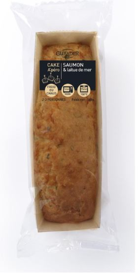 Cake au saumon et à la laitue de mer, Guyader (160 g)