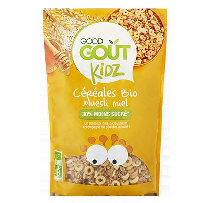 Céréales Muesli miel BIO - dès 3 ans, Good Goût Kid'z (300 g)