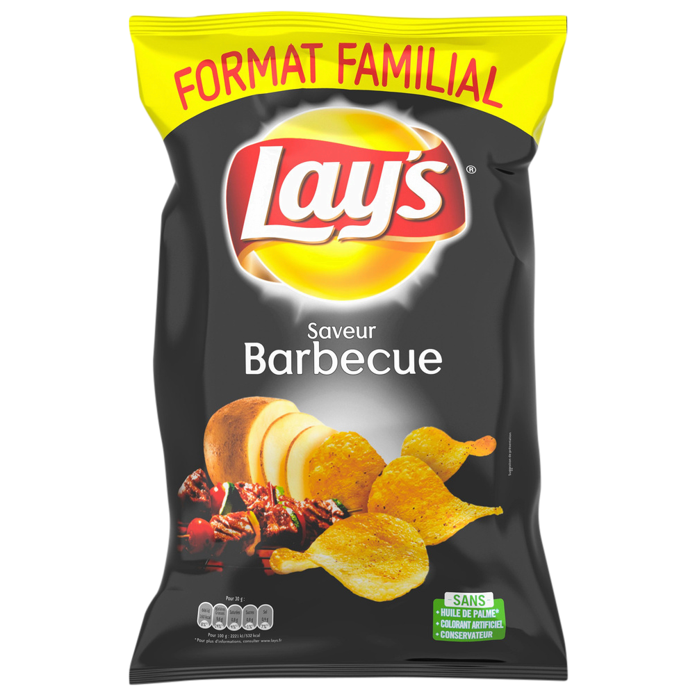 Chips saveur barbecue, Lay's (240 g)