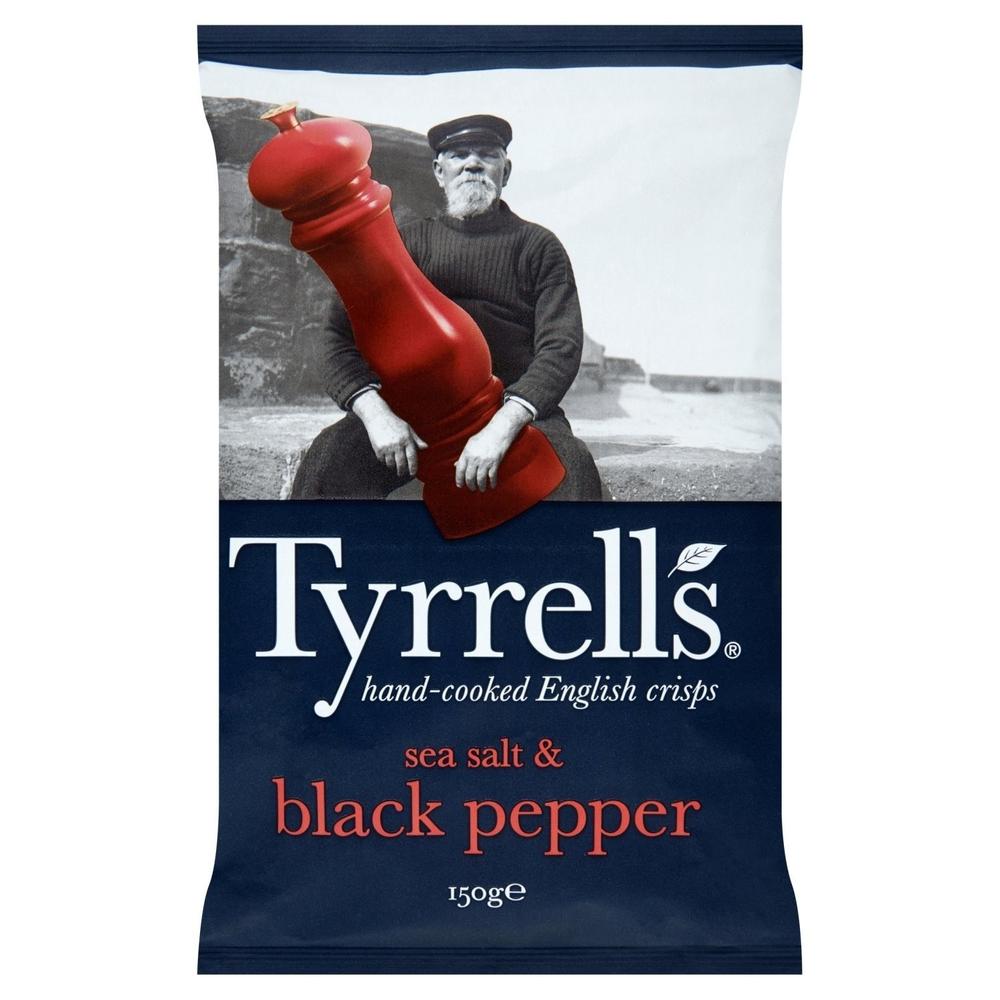 Chips sel de mer & poivre noir, Tyrrell's (150 g)