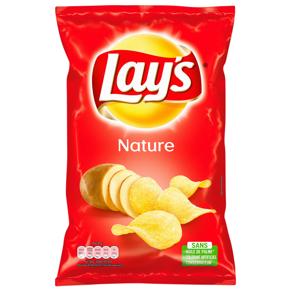 Chips au sel, Lay's (150 g)