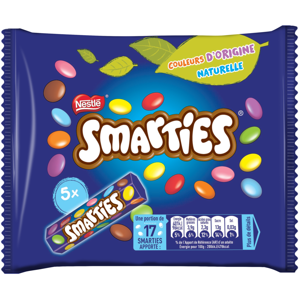 Smarties, Nestlé (x 5 tubes, 190 g)