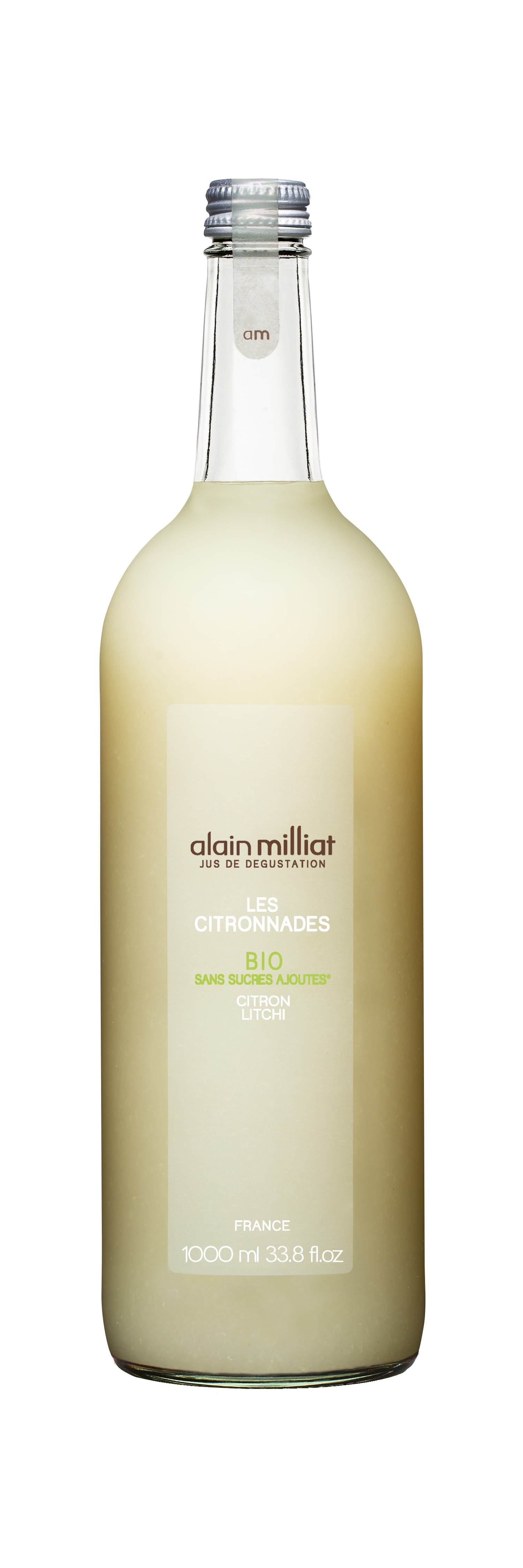 Citronnade Citron - Litchi BIO, Alain Milliat (1 L)