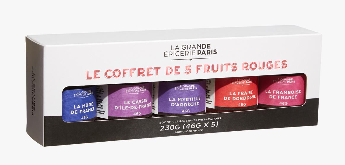 Coffret 5 confitures de fruits rouges, La Grande Epicerie de Paris (x 5, 230 g)