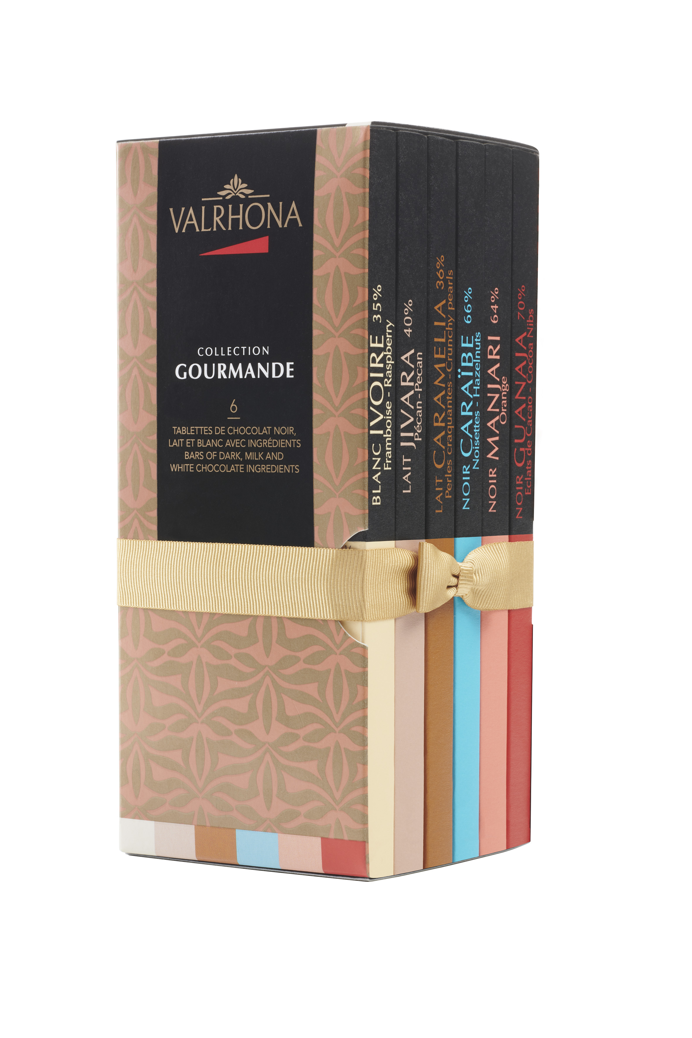 Coffret de 6 tablettes Collection Gourmande, Valrhona (510 g)
