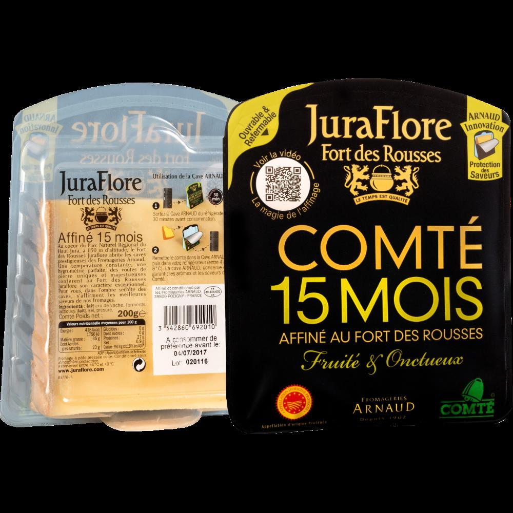 Comté AOP au lait cru affiné 15 mois, Juraflore (200 g)