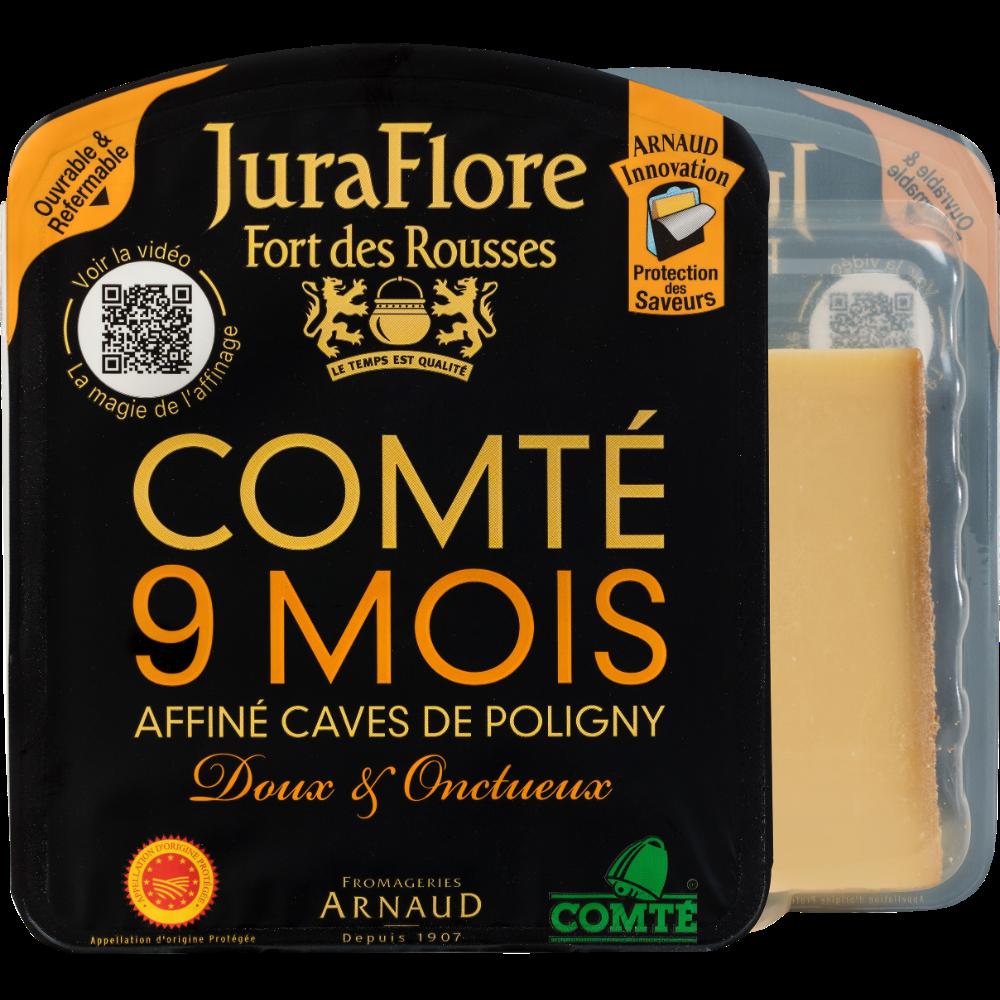 Comté AOP au lait cru affiné 9 mois affinage 35% MG, Juraflore (200 g)