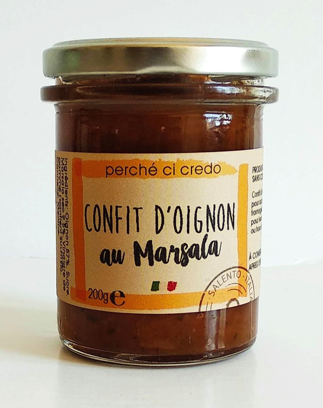 Confit d'oignon au marsala, Perche Ci Credo (190 g)